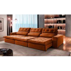 Sofa-Retratil-e-Reclinavel-6-Lugares-Ocre-380m-Renzo---Ambiente
