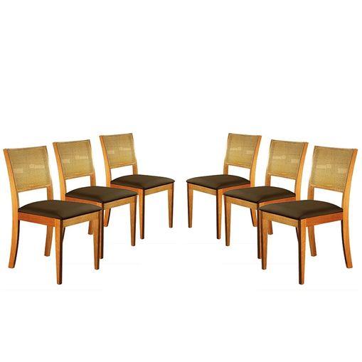 Kit-6-Cadeiras-de-Jantar-Estofada-Marrom-em-Veludo-Arsa