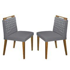 Kit-2-Cadeiras-de-Jantar-Estofada-Cinza-em-Veludo-Birlik