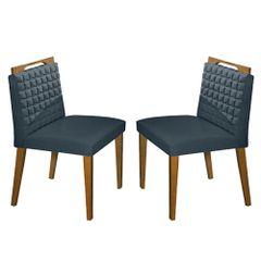 Kit-2-Cadeiras-de-Jantar-Estofada-Azul-em-Veludo-Birlik
