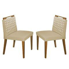 Kit-2-Cadeiras-de-Jantar-Estofada-Bege-em-Veludo-Birlik