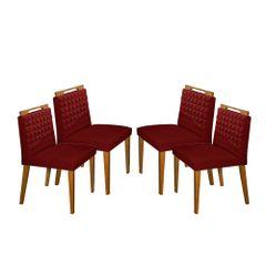 Kit-4-Cadeiras-de-Jantar-Estofada-Bordo-em-Veludo-Birlik