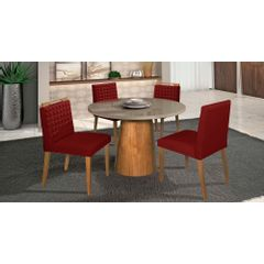 Kit-4-Cadeiras-de-Jantar-Estofada-Bordo-em-Veludo-Birlik---Ambiente