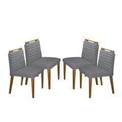 Kit-4-Cadeiras-de-Jantar-Estofada-Cinza-em-Veludo-Birlik