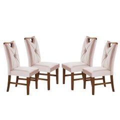 Kit-4-Cadeiras-de-Jantar-Estofada-Rose-em-Veludo-Delik