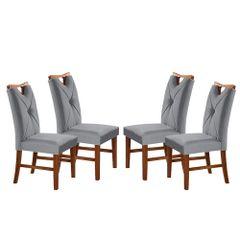Kit-4-Cadeiras-de-Jantar-Estofada-Cinza-em-Veludo-Delik