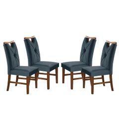 Kit-4-Cadeiras-de-Jantar-Estofada-Azul-em-Veludo-Delik