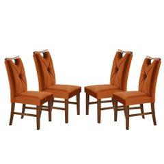 Kit-4-Cadeiras-de-Jantar-Estofada-Ocre-em-Veludo-Delik