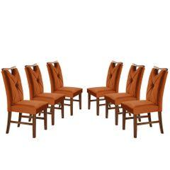 Kit-6-Cadeiras-de-Jantar-Estofada-Ocre-em-Veludo-Delik