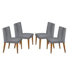 Kit-4-Cadeiras-de-Jantar-Estofada-Cinza-em-Veludo-Dizayn