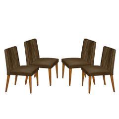 Kit-4-Cadeiras-de-Jantar-Estofada-Marrom-em-Veludo-Dizayn