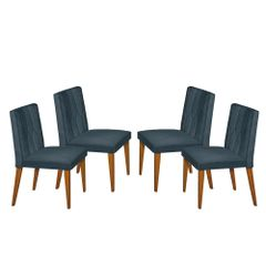 Kit-4-Cadeiras-de-Jantar-Estofada-Azul-em-Veludo-Dizayn