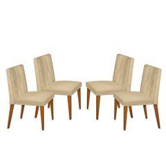 Kit-4-Cadeiras-de-Jantar-Estofada-Bege-em-Veludo-Dizayn