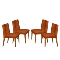 Kit-4-Cadeiras-de-Jantar-Estofada-Ocre-em-Veludo-Dizayn