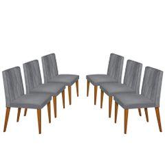 Kit-6-Cadeiras-de-Jantar-Estofada-Cinza-em-Veludo-Dizayn