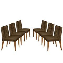 Kit-6-Cadeiras-de-Jantar-Estofada-Marrom-em-Veludo-Dizayn