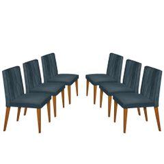Kit-6-Cadeiras-de-Jantar-Estofada-Azul-em-Veludo-Dizayn