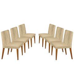 Kit-6-Cadeiras-de-Jantar-Estofada-Bege-em-Veludo-Dizayn
