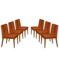 Kit-6-Cadeiras-de-Jantar-Estofada-Ocre-em-Veludo-Dizayn