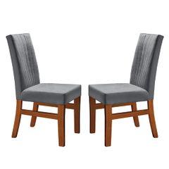 Kit-2-Cadeiras-de-Jantar-Estofada-Cinza-em-Veludo-Duz