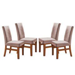 Kit-4-Cadeiras-de-Jantar-Estofada-Rose-em-Veludo-Duz