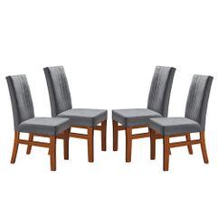 Kit-4-Cadeiras-de-Jantar-Estofada-Cinza-em-Veludo-Duz