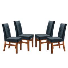 Kit-4-Cadeiras-de-Jantar-Estofada-Azul-em-Veludo-Duz