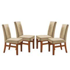 Kit-4-Cadeiras-de-Jantar-Estofada-Bege-em-Veludo-Duz