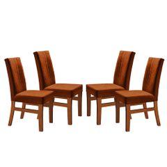 Kit-4-Cadeiras-de-Jantar-Estofada-Ocre-em-Veludo-Duz