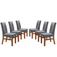 Kit-6-Cadeiras-de-Jantar-Estofada-Cinza-em-Veludo-Duz