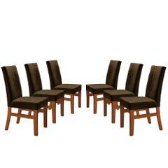 Kit-6-Cadeiras-de-Jantar-Estofada-Marrom-em-Veludo-Duz