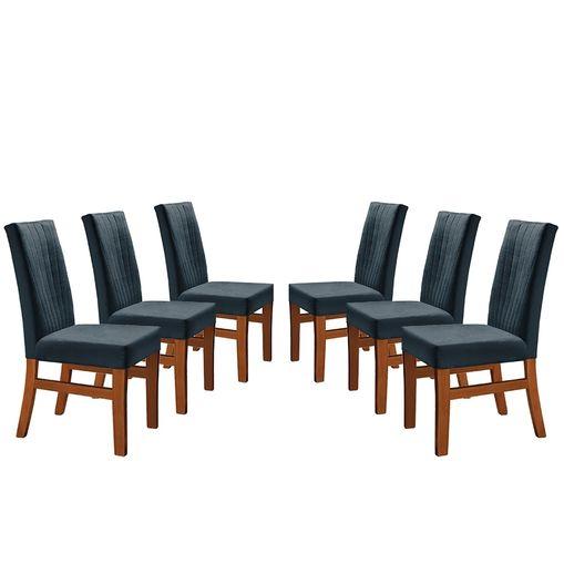 Kit-6-Cadeiras-de-Jantar-Estofada-Azul-em-Veludo-Duz