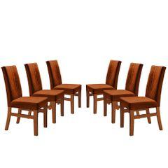 Kit-6-Cadeiras-de-Jantar-Estofada-Ocre-em-Veludo-Duz