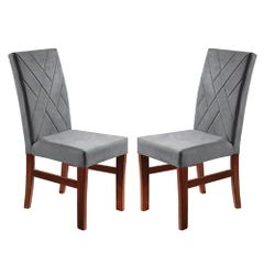 Kit-2-Cadeiras-de-Jantar-Estofada-Cinza-em-Veludo-Elmas