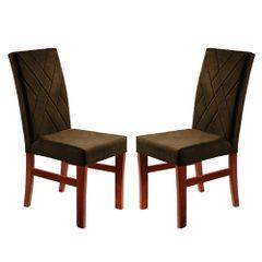 Kit-2-Cadeiras-de-Jantar-Estofada-Marrom-em-Veludo-Elmas