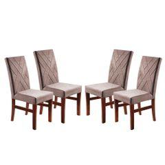 Kit-4-Cadeiras-de-Jantar-Estofada-Rose-em-Veludo-Elmas