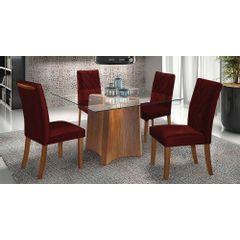 Kit-4-Cadeiras-de-Jantar-Estofada-Bordo-em-Veludo-Elmas---Ambiente