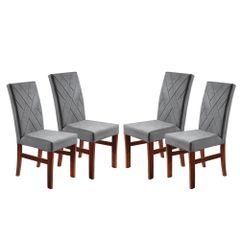 Kit-4-Cadeiras-de-Jantar-Estofada-Cinza-em-Veludo-Elmas