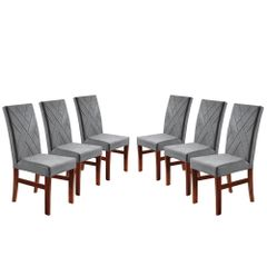 Kit-6-Cadeiras-de-Jantar-Estofada-Cinza-em-Veludo-Elmas
