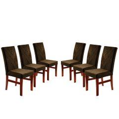 Kit-6-Cadeiras-de-Jantar-Estofada-Marrom-em-Veludo-Elmas