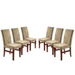 Kit-6-Cadeiras-de-Jantar-Estofada-Bege-em-Veludo-Elmas