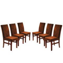 Kit-6-Cadeiras-de-Jantar-Estofada-Ocre-em-Veludo-Elmas