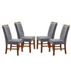Kit-4-Cadeiras-de-Jantar-Estofada-Cinza-em-Veludo-Hatlar