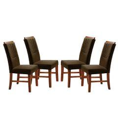 Kit-4-Cadeiras-de-Jantar-Estofada-Marrom-em-Veludo-Hatlar