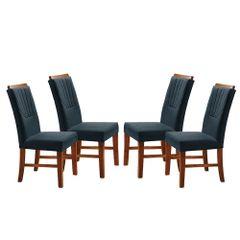 Kit-4-Cadeiras-de-Jantar-Estofada-Azul-em-Veludo-Hatlar