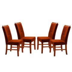 Kit-4-Cadeiras-de-Jantar-Estofada-Ocre-em-Veludo-Hatlar