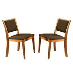 Kit-2-Cadeiras-de-Jantar-Estofada-Marrom-em-Veludo-Kalip