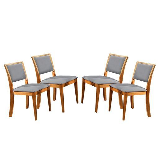 Kit-4-Cadeiras-de-Jantar-Estofada-Cinza-em-Veludo-Kalip