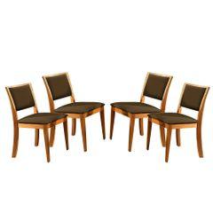Kit-4-Cadeiras-de-Jantar-Estofada-Marrom-em-Veludo-Kalip