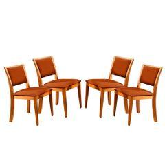 Kit-4-Cadeiras-de-Jantar-Estofada-Ocre-em-Veludo-Kalip